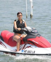Rihanna jetskiing in Maryland, California