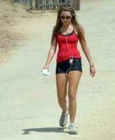 Amanda Bynes hiking
