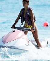 Rihannas bikini set in Barbados with Chris Brown