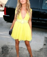 Ashley Tisdale tanned yellow mama