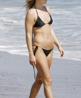 Ali Larters black bikini at Malibu beach