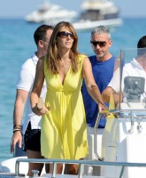 Elizabeth Hurley and friends boating trip