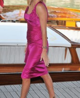 Charlize Theron in pink dress