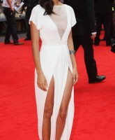 Thandie Newton posing on red carpet