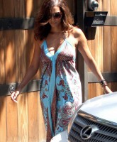 Halle Berry sexy in a maxi