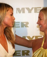 Jennifer Hawkins with a girl