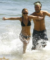 Christina Ricci & Kick Gurry at Malibu beach