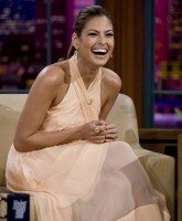 Eva Mendes so comfy on the sofa