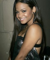 Christina Milians bareback dress