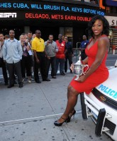 Serena Williams on police car