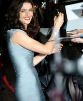 Rachel Weisz in wrap dress