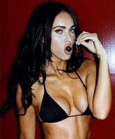Megan Fox licking a cherry