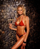 Brooke Burns wearing bikini