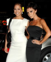 Victoria Beckham Jennifer Lopez attend Fashion Show