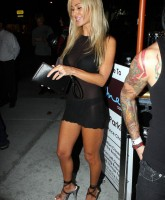 Shauna Sand shows her thongs