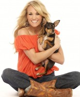 Carrie Underwood with a dog