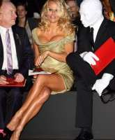 Pamela Anderson in London Fashion Week