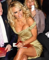 Pamela Anderson stole the show here!