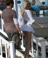 Kimberly Stewart Beach Upskirt