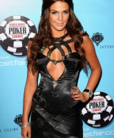 Danielle Lloyd in black evening gow