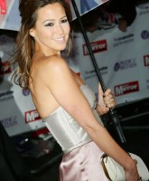 Rachel Stevens with umbrella