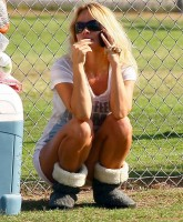 Pamela Anderson in shorts