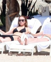 Lindsay Lohan is sunbathing