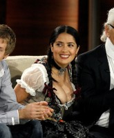 Salma Hayek showed boobs