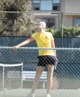 Maria Sharapova loves to train