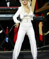 Christina Aguilera in white