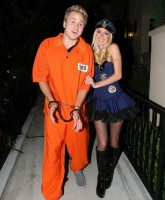 Heidi Montag as police officer