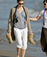 Jessica Biel on the Beach in Malibu