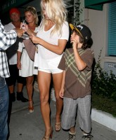 Pamela Anderson showing off Legs in Shorts