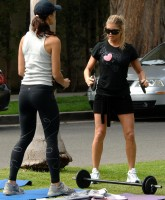 Fergie working out in Santa Monica March