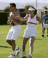 Martina Hingis Plays Soccer