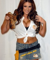 Lucy Pinder Wrestles Snakes and Men