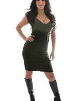 Kim Kardashian Photoshoot waist dress