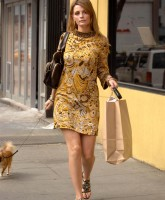 Mischa Barton goes out with her dog