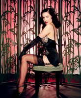Dita Von Teese Digs her Heels and Reels in Men