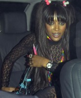 Naomi Campbell and her fashion thong
