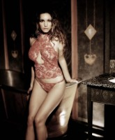 Kelly Brook in Lingerie Spread
