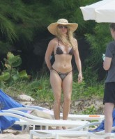 Nicolette Sheridan at the Beach