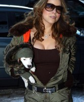 Mariah Carey and her Puppy