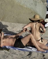 Kelly Brook Sunbathing