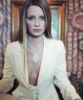 Mischa Barton showing cleavage