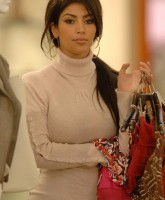 Kim Kardashian is shopping