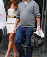 Cheryl Cole in fancy silver shoes