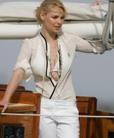Katherine Heigl sails in Plunging Neckline