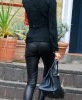 Victoria Beckham leaving Scotts restaurant in London