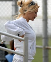 Pamela Anderson watches Ball and Balls